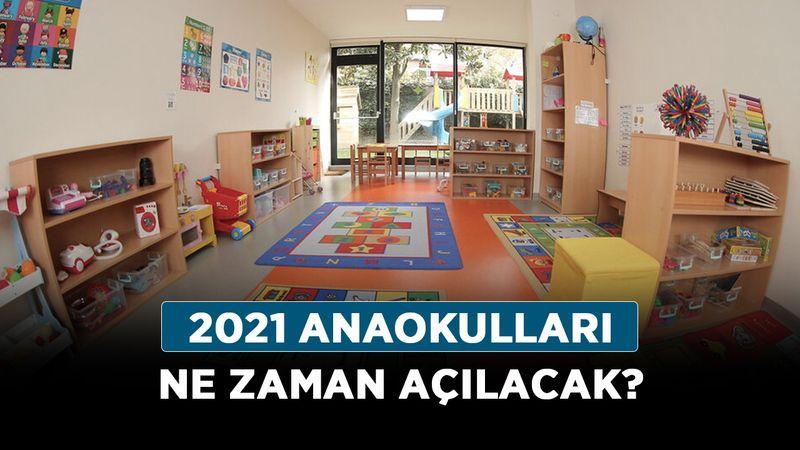 2021 anaokulları ne zaman açılacak? Kreş ve anaokul kayıtları ne zaman?