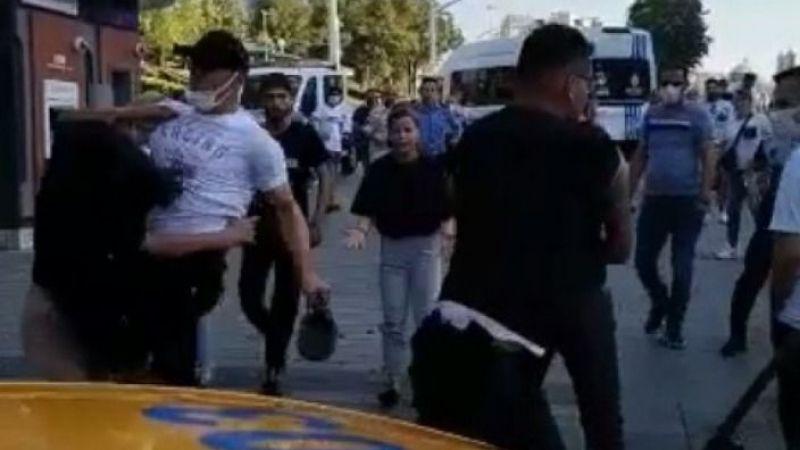 Taksim'de kadına uçan tekme atan zabıtanın işine son verildi