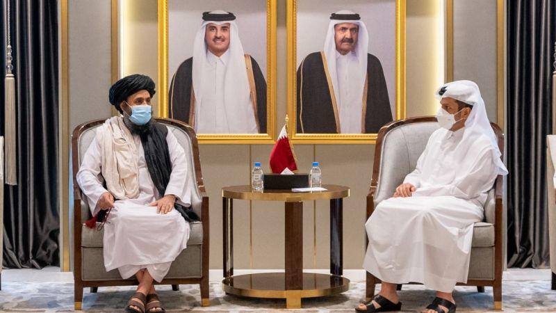 Katar Dışişleri Bakanı, Taliban heyetiyle bir araya geldi