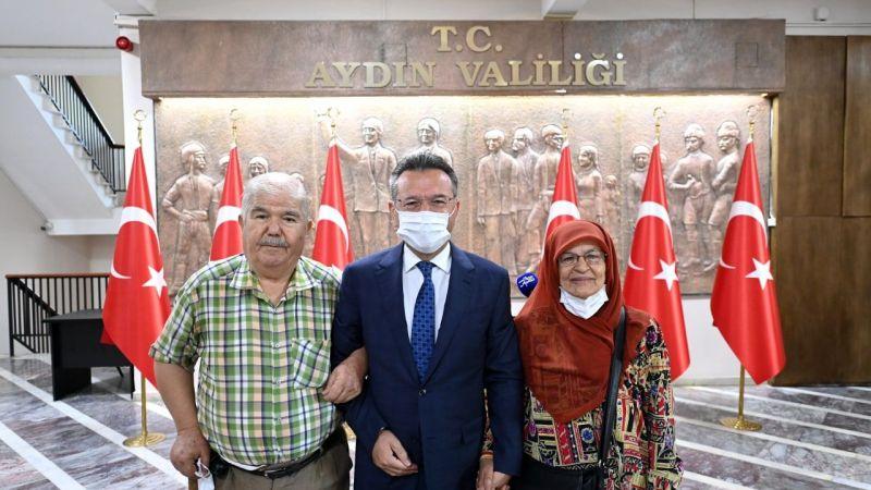 Aydın'da hayırsever çift AFAD'a 150 bin lira bağış yaptı