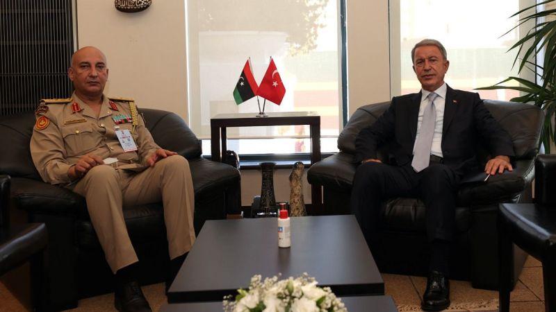 Milli Savunma Bakanı Akar, Libya Genelkurmay Başkanı Haddad'ı kabul etti