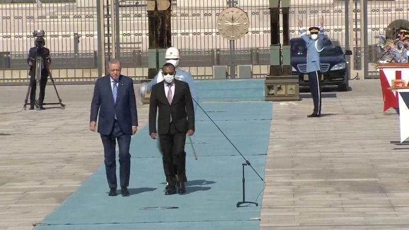 Erdoğan'ın davet ettiği Etiyopya Başbakanı Ankara'da