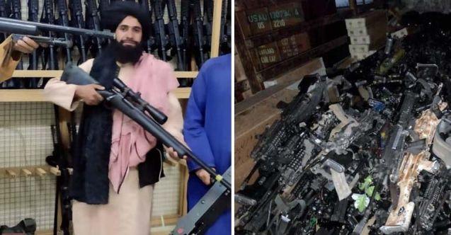 ABD'nin milyar dolarlık silahları Taliban'a kaldı
