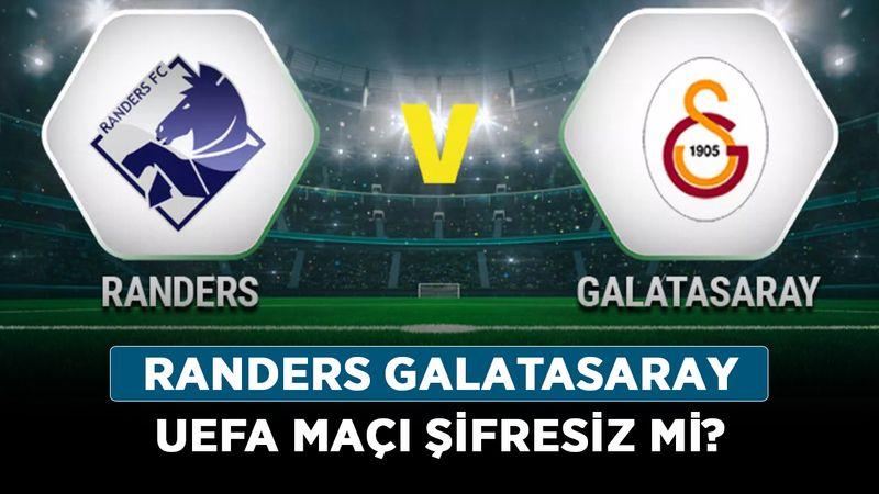 Randers Galatasaray UEFA maçı şifresiz mi? Galatasaray'ın maçı hangi kanalda, ücretsiz mi?