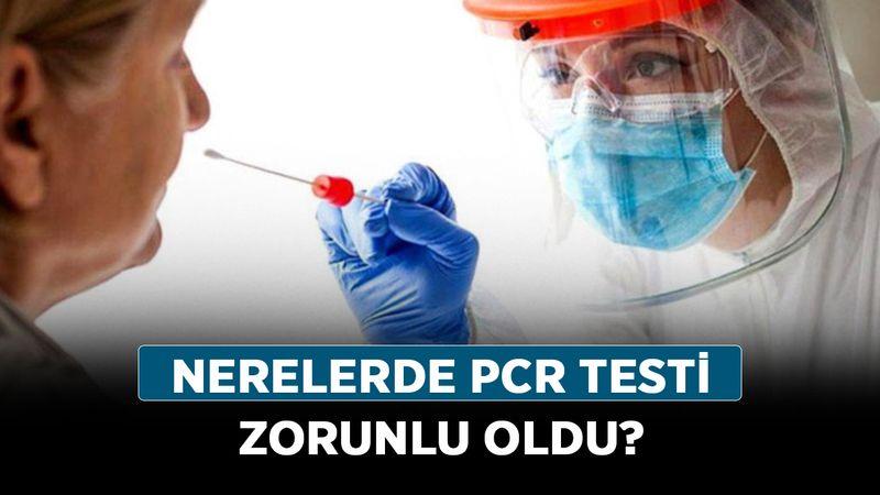 PCR testi zorunlu olarak kimlere yapılır? Nerelerde PCR testi zorunlu oldu?