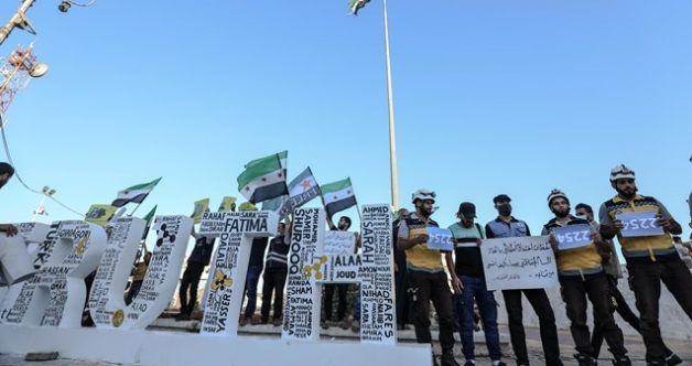 Doğu Guta katliamı İdlib'de protesto edildi
