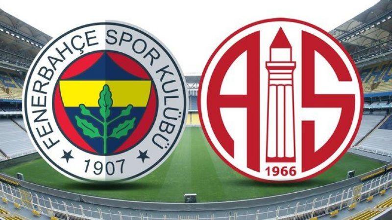 Fenerbahçe-Antalyaspor ilk 11'leri