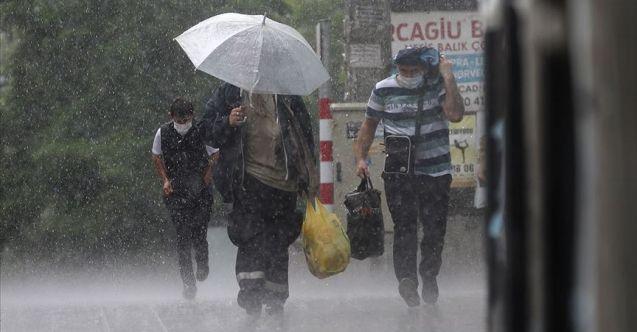 Meteorolojiden bazı bölgelere sağanak yağış uyarısı geldi