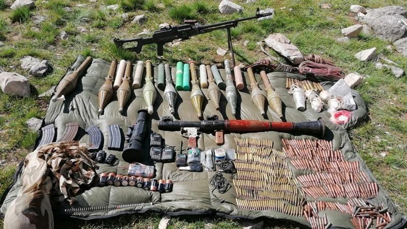 Van'da terör örgütü PKK'ya ait mühimmat ve malzemeler ele geçirildi