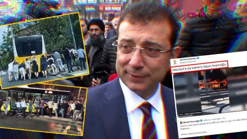 Tunç Soyer'i kutlayan İmamoğlu'na AK Parti'den İETT göndermesi!