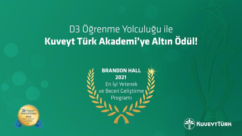 """Kuveyt Türk'ün """"Denetim Danışmanlık  Dönüşüm"""" programına altın ödül!"""