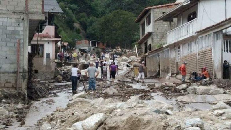 Venezuela'da toprak kaymaları: 20 ölü,17 kayıp