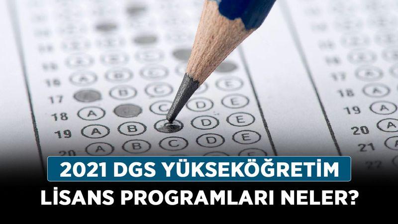 2021 DGS Yükseköğretim lisans programları neler? DGS tercih ekranı!