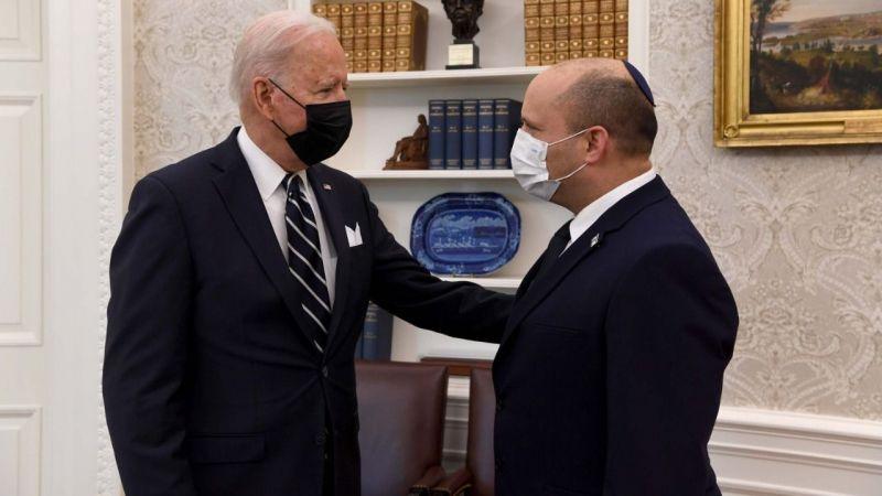 ABD Başkanı Biden, İsrail Başbakanı Bennett ile Beyaz Saray'da bir araya geldi