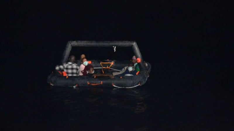 Aydın'da Yunanistan unsurlarınca Türk kara sularına geri itilen 40 düzensiz göçmen kurtarıldı