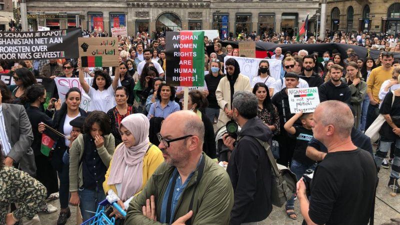 Hollanda'da Afganistan'daki sivillere destek gösterisi düzenlendi