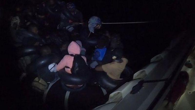 Aydın Didim'de 30 düzensiz göçmen kurtarıldı