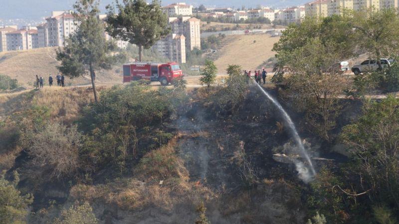 Denizli'de çıkan yangın kontrol altına alındı
