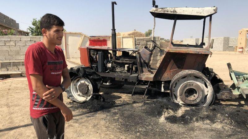 Kerkük'te terör örgütü DEAŞ'ın saldırılarına maruz kalan köyün sakinleri, köylerinin korunmasını istiyor