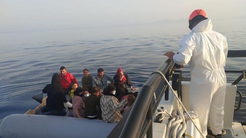Aydın'da Yunan unsurlarınca Türk kara sularına itilen 120 düzensiz göçmen kurtarıldı