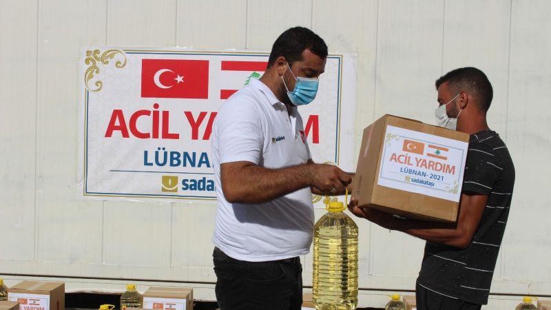 Sadakataşı'ndan Filistinli mültecilere gıda ve ilaç yardımı