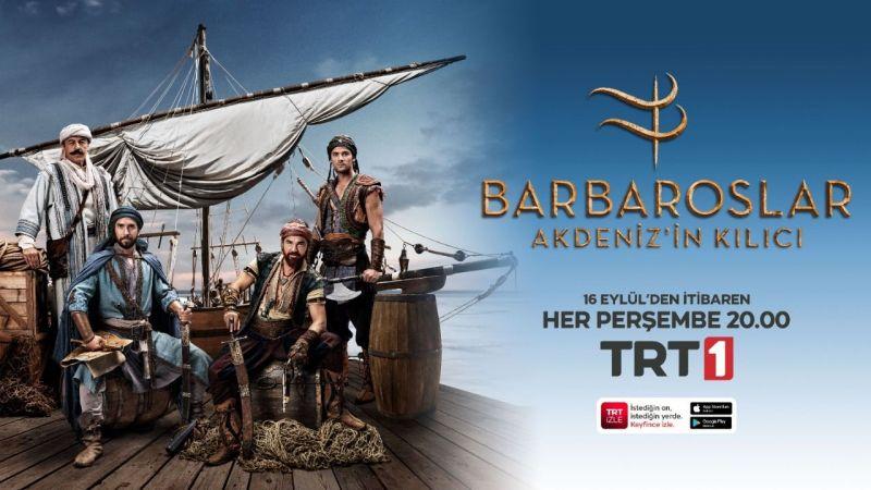 """""""Barbaroslar Akdeniz'inkılıcı""""bu akşam TRT 1'de başlıyor…"""