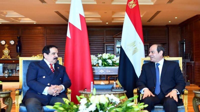 """Mısır Cumhurbaşkanı Sisi, ülkeye resmi ziyarette bulunan Bahreyn Kralı Halife ile """"Hedasi Barajı"""" meselesini görüştü"""