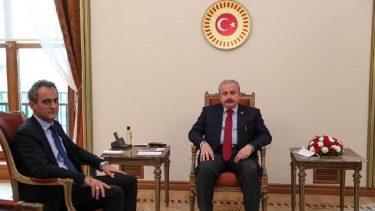 TBMM Başkanı Şentop, Bakan Özer'i kabul etti