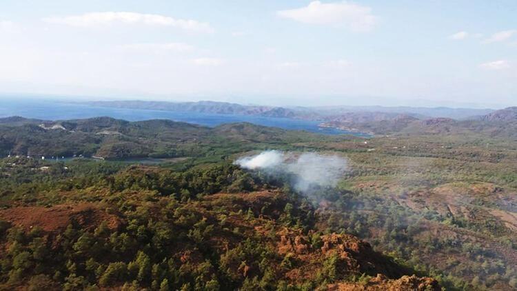 Marmaris'te çıkan orman yangını kontrol altına alındı