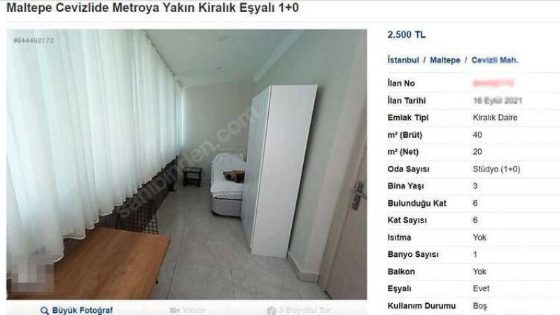 Sosyal medyada gündem oldu! 1+0 dairenin kirası 2500 TL