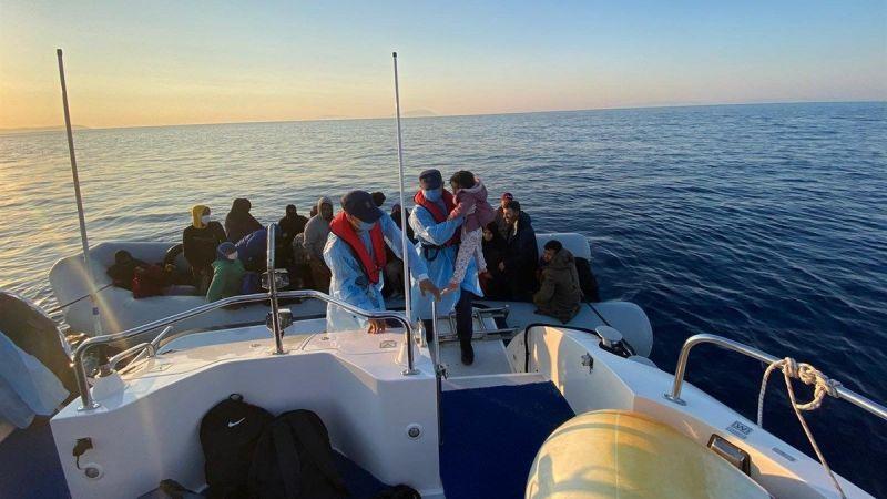 Türk kara sularına geri itilen 161 düzensiz göçmen kurtarıldı