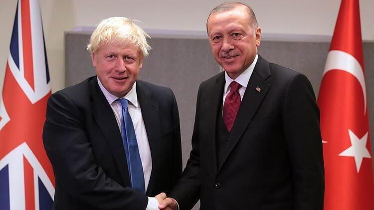 Cumhurbaşkanı Erdoğan, New York'ta İngiltere Başbakanı Johnson'u kabul ediyor