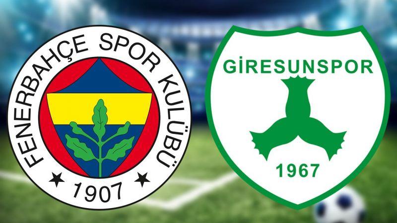 Fenerbahçe Giresunspor maçı canlı izle! Fenerbahçe maçı izle, Fenerbahçe Giresunspor maç izle (CANLI)