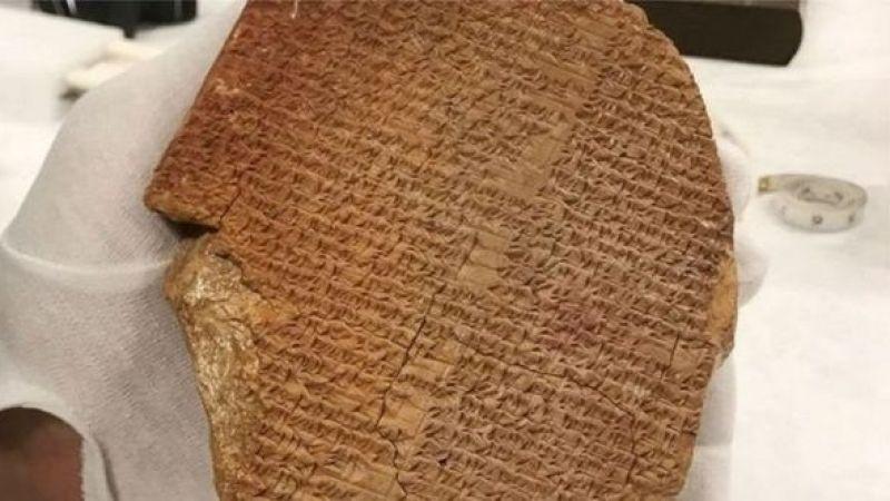 3 bin 600 yıllık Gılgamış Destanı'na ait tablet Irak'a iade edildi