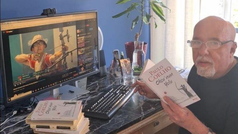 """Paulo Coelho son kitabı """"Okçu'nun Yolu""""nu Mete Gazoz'a adadı"""