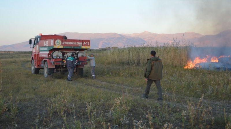 Afyonkarahisar'da çıkan yangın söndürüldü