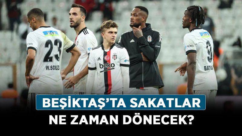 Beşiktaş'ta sakatlar ne zaman dönecek? Ajax maçı öncesi son durum ne?