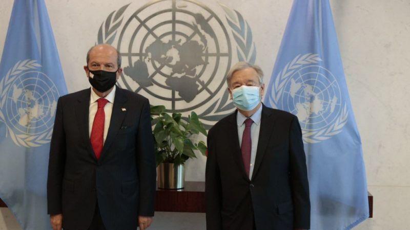 BM Genel Sekreteri Guterres, KKTC Cumhurbaşkanı Tatar ile bir araya geldi
