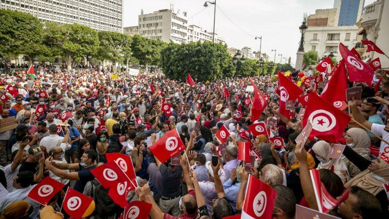 "Tunus'ta Cumhurbaşkanı Kays Said'in ""olağanüstü kararları"" protesto ediliyor"