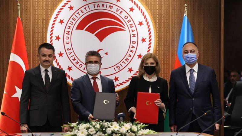 Türkiye ile Azerbaycan arasında gıda güvenliği konusunda  anlaşma imzalandı