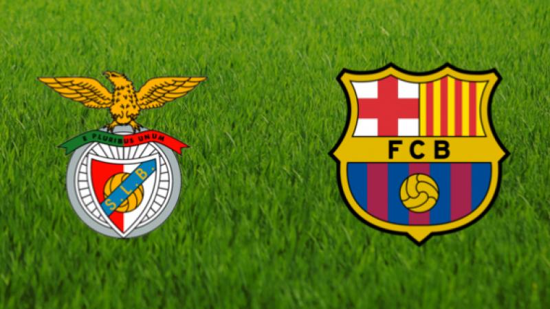 Canlı maç izle, Benfica Barcelona maçı izle! Şampiyonlar Ligi maçı izle Benfica Barcelona