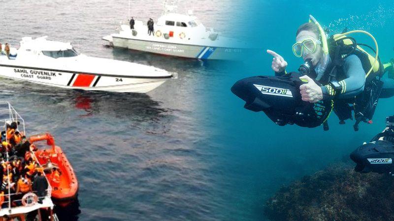 Su altı aracıyla Yunanistan'a kaçan FETÖ'cüler yakalandı