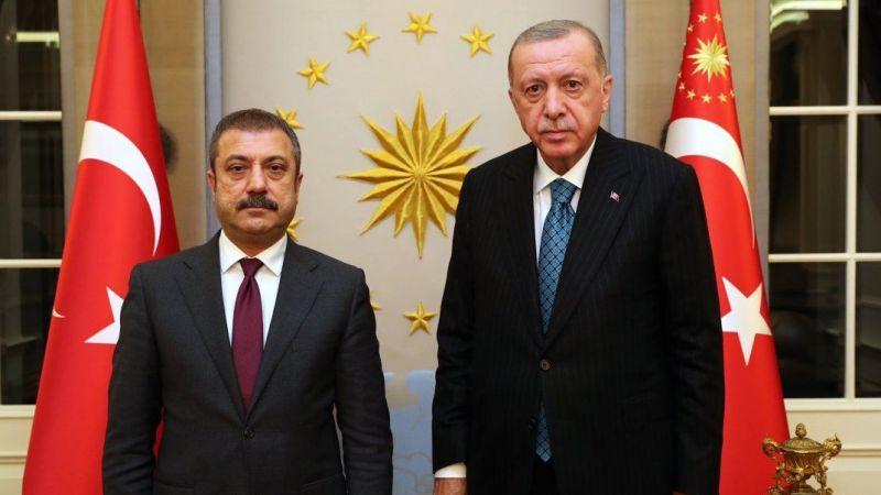 Çankaya'da ekonomi zirvesi! Cumhurbaşkanı Erdoğan, Şahap Kavcıoğlu'nu kabul etti
