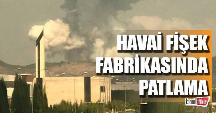 Sakarya havai fişek fabrikasında patlama