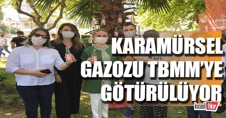 Emine Zeybek, Karamürsel Gazozu'nu TBMM'ye götürüyor