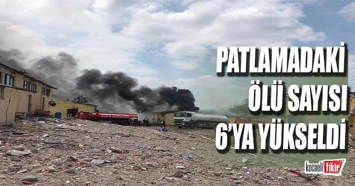 Sakarya'da havai fişek fabrikasındaki patlamada ölü sayısı 6'ya yükseldi