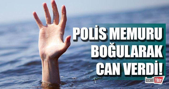Kocaeli'de polis memuru boğularak can verdi