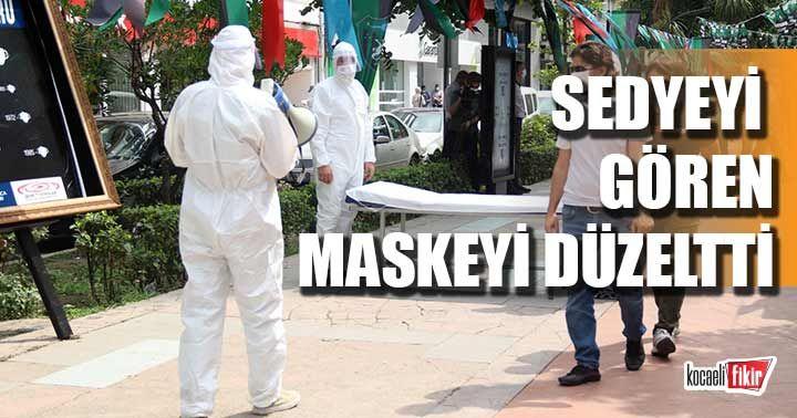 Sosyal deney ile doğru maske kullanımına dikkat çektiler