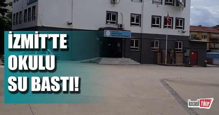 İzmit'te okulu su bastı!