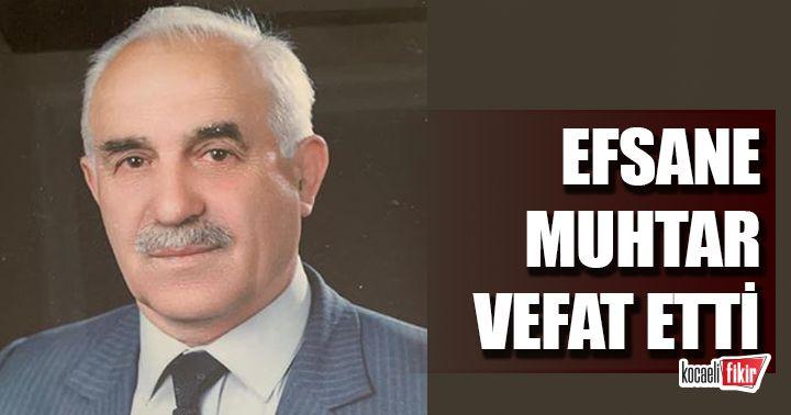 Derince'nin efsane muhtarı Mehdi Altan vefat etti